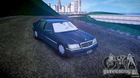 Mercedes Benz SL600 W140 1998 higher Performance для GTA 4 вид справа