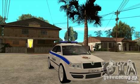 Skoda SuperB GEO Police для GTA San Andreas вид сзади