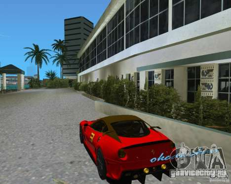 Ferrari 599 GTO для GTA Vice City вид справа
