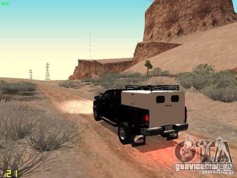 Dodge Ram 3500 Unmarked для GTA San Andreas вид сзади слева