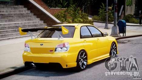 Subaru Impreza STI для GTA 4 вид сбоку
