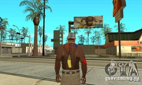 Прикольная татуировка у CJ-я на теле для GTA San Andreas четвёртый скриншот