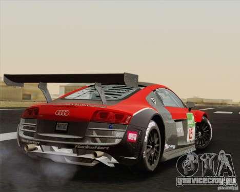 Audi R8 LMS v2.0.1 для GTA San Andreas вид справа