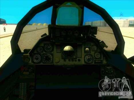 F-14 Tomcat Schnee для GTA San Andreas вид сбоку