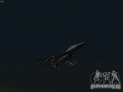 F-16C Warwolf для GTA San Andreas вид сзади