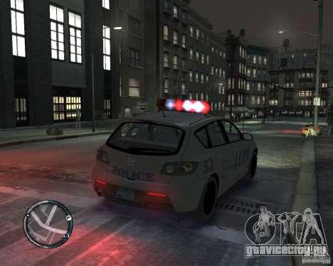 Mazda 3 Police для GTA 4 вид слева