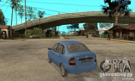 ВАЗ 1118 Калина для GTA San Andreas вид сверху