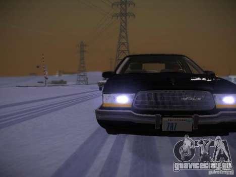 Buick Roadmaster 1996 для GTA San Andreas вид сбоку