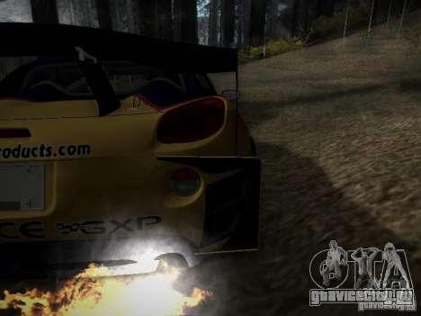 Pontiac Solstice Redbull Drift v2 для GTA San Andreas вид изнутри