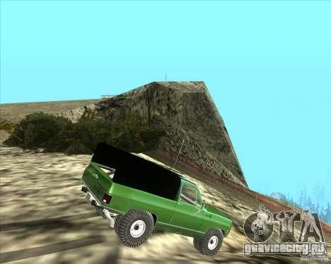 Chevrolet K5 Ute Rock Crawler для GTA San Andreas вид сзади слева