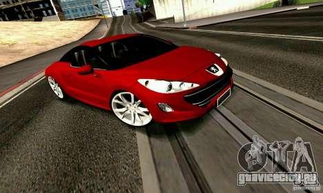 Peugeot Rcz 2011 для GTA San Andreas вид сбоку