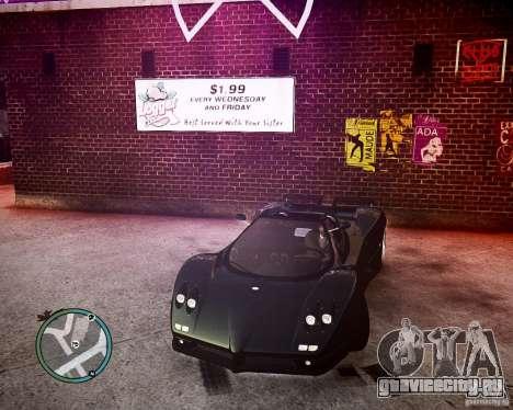 Pagani Zonda C12S Roadster для GTA 4