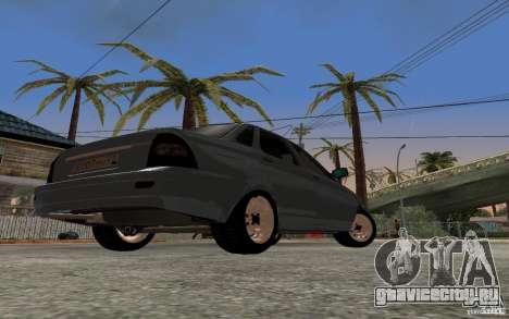 Лада Приора light tuning для GTA San Andreas вид сзади