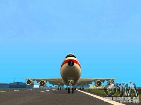 Boeing 747-100 для GTA San Andreas вид сзади