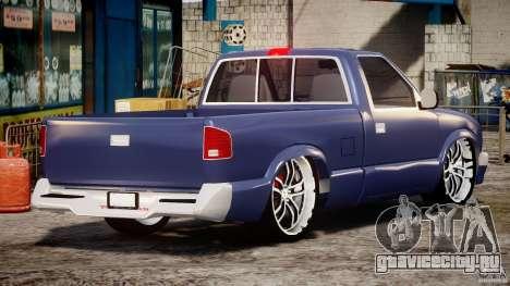 Chevrolet S10 1996 Draggin [Beta] для GTA 4 вид сбоку