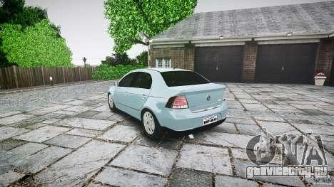 Volkswagen Voyage Comfortline для GTA 4 вид сзади слева