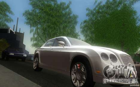 Bentley Continental Flying Spur для GTA San Andreas вид сзади