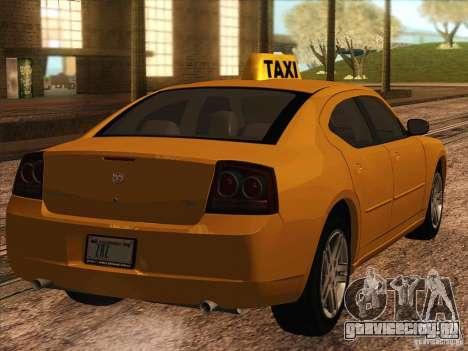 Dodge Charger STR8 Taxi для GTA San Andreas вид сзади слева
