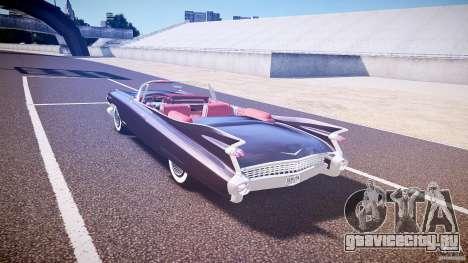 Cadillac Eldorado 1959 interior red для GTA 4 вид справа