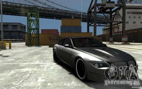 BMW M6 Tuning для GTA 4 вид сзади