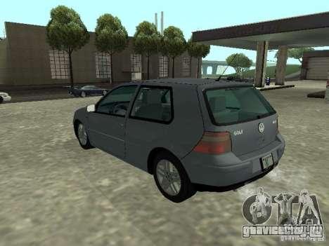 Volkswagen Golf IV для GTA San Andreas вид слева