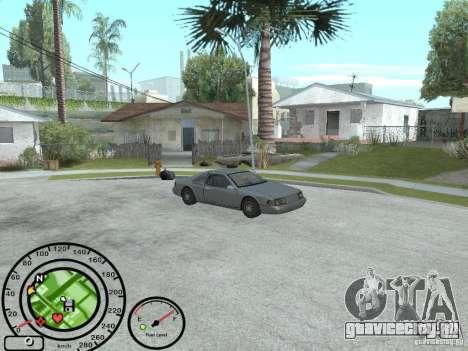 Спидометр с датчиком топлива для GTA San Andreas