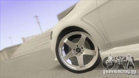 Mitsubishi Lancer Evo IX DIM для GTA San Andreas вид изнутри
