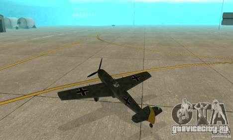 Bf-109 для GTA San Andreas вид справа