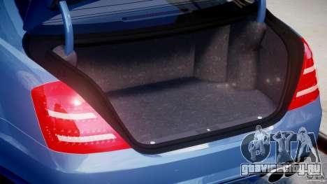 Mercedes-Benz S63 AMG [Final] для GTA 4 вид снизу