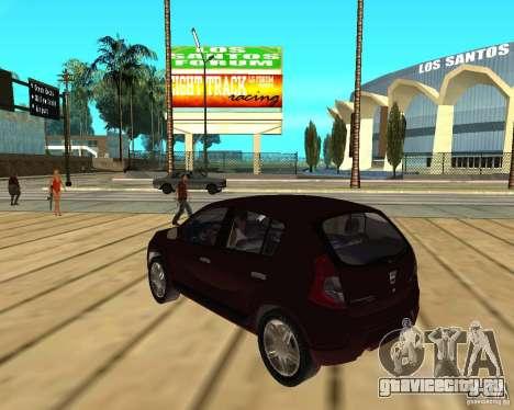 Dacia Sandero 1.6 MPI для GTA San Andreas вид слева