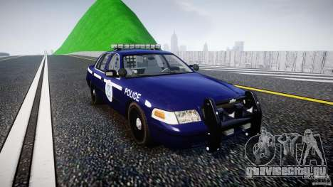 Ford Crown Victoria Homeland Security [ELS] для GTA 4 вид сзади