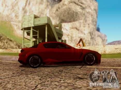 Mazda RX8 Reventon для GTA San Andreas вид изнутри