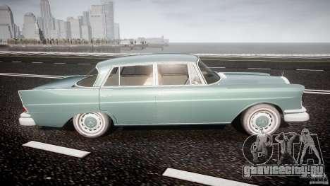 Mercedes-Benz W111 v1.0 для GTA 4 вид сбоку