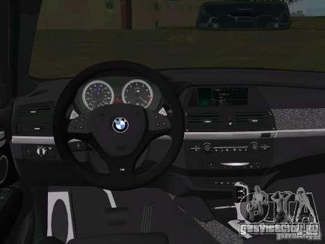 BMW X6M для GTA Vice City вид сверху