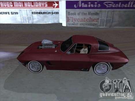 Chevrolet Corvette Big Muscle для GTA San Andreas вид слева
