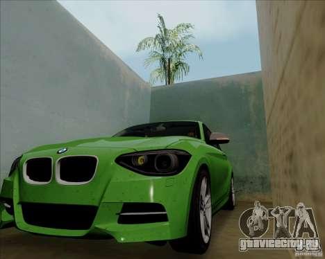 BMW M135i V1.0 2013 для GTA San Andreas вид сзади