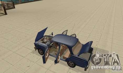 Москвич 412 с народным тюнингом для GTA San Andreas вид сзади