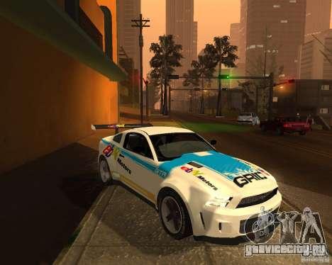 Ford Mustang GT-R 2010 для GTA San Andreas вид сзади