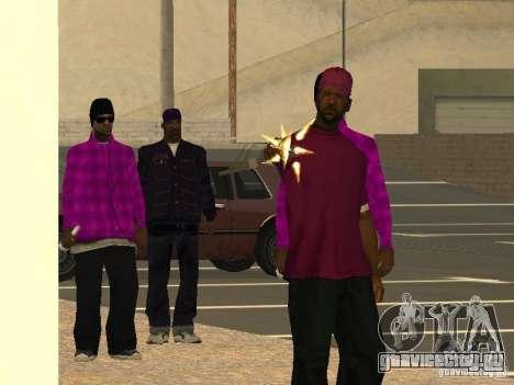 Новые скины Баллас для GTA San Andreas третий скриншот