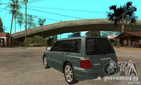Subaru Forester для GTA San Andreas вид сзади слева