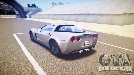 Chevrolet Corvette Z06 1.1 для GTA 4 вид сзади слева