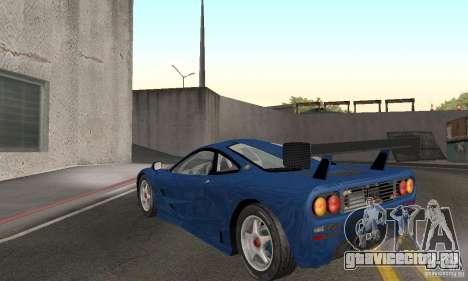 Mclaren F1 GTR (v1.0.0) для GTA San Andreas вид сзади слева