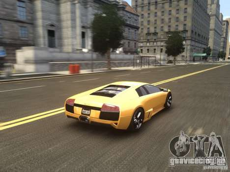 Lamborghini Murcielago LP640 2007 для GTA 4 вид сбоку
