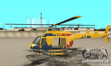 Экскурсионный вертолёт из gta 4 для GTA San Andreas вид слева