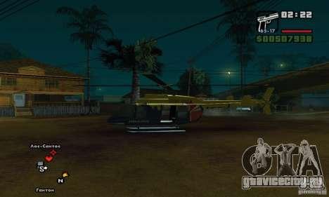 Helitours Maverick из GTA 4 для GTA San Andreas вид сзади слева