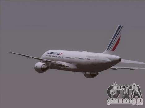 Airbus A320-211 Air France для GTA San Andreas вид сверху