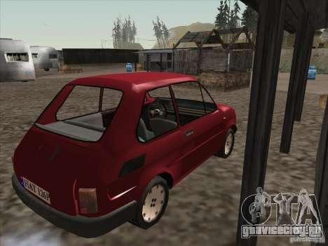 Fiat 126p Elegant для GTA San Andreas вид справа