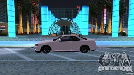 Nissan Skyline GTR-34 M-spec Nur для GTA San Andreas вид слева