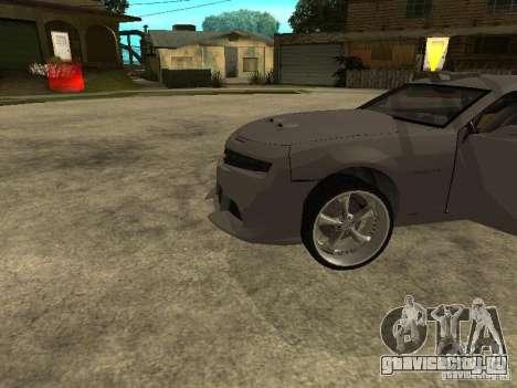 Chevrolet Camaro для GTA San Andreas вид сзади