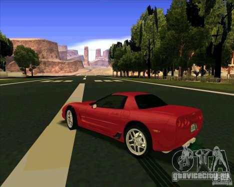 Chevrolet Corvette C5 z06 для GTA San Andreas вид сзади слева